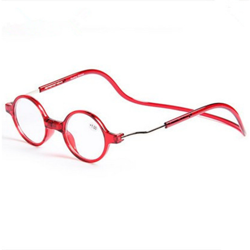 Round Magnet Reading Glass Men and women hanging neck reading glasses(China (Mainland))