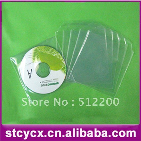 PP DVD SLEEVE 100pcs/bag  colorful Paper sleeve and envelop for 1 disc CD or DVD  100pcs/bag PP sets
