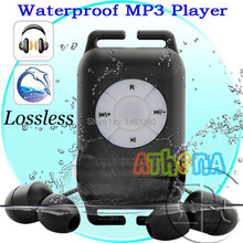 100%High quality IPX8 Waterproof  MP3 Player 4GB lossless music player earphone Swimming Running Surf Sports Mp3 Player+Earphone