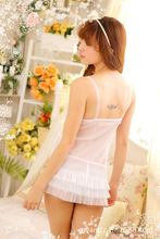 Sexy underwear women s pajamas nightgown sexy gauze halter dress cake factory direct wholesale 1013
