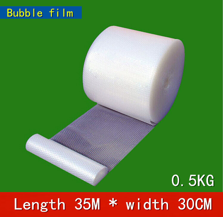 Length 35m * Width 30cm Bubble Film/bubble Roll /shockproof Air Foam Roll/foam Packaging Material, Packing Wrap For Shipping(China (Mainland))