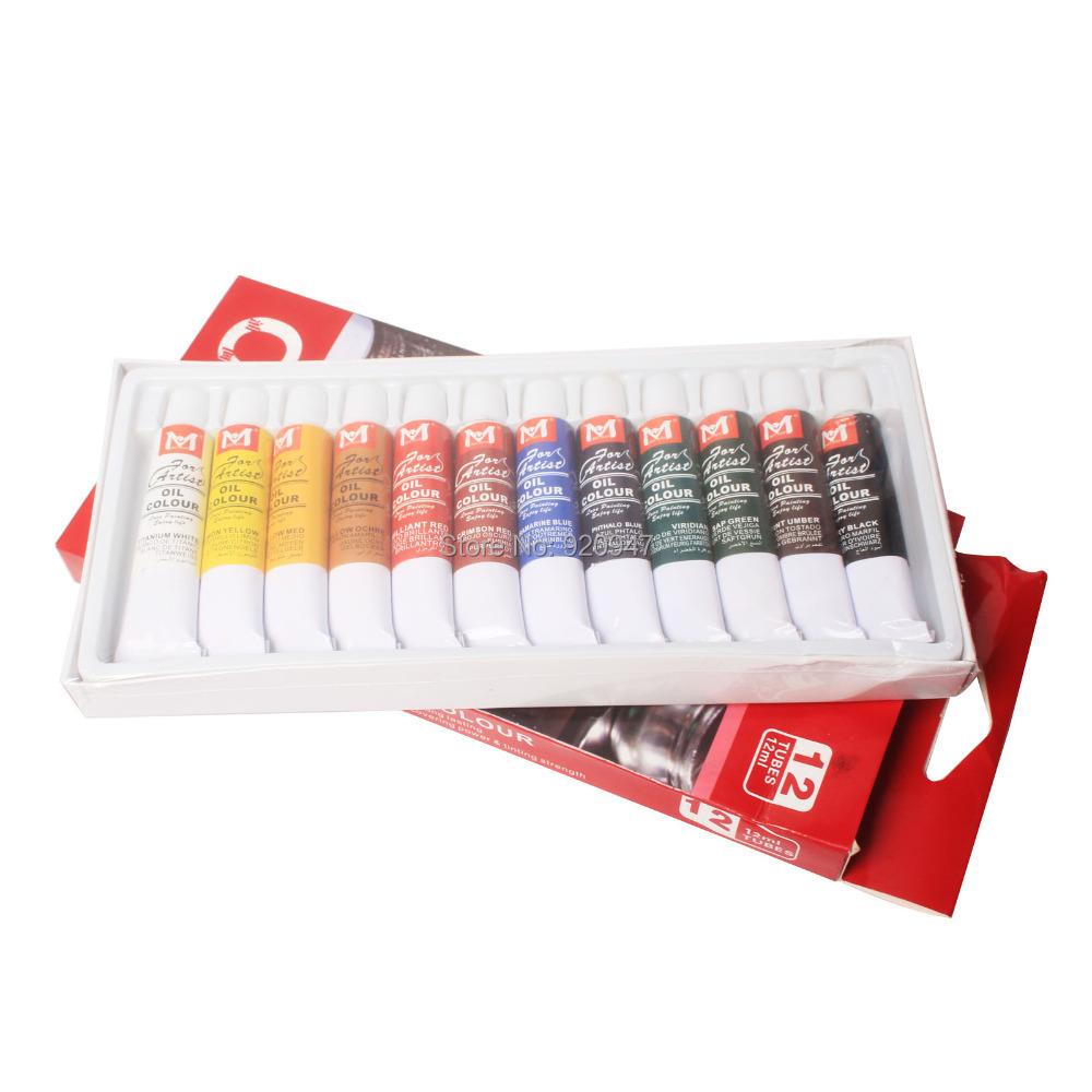 Гаджет  New 12 Color 12ml Paint Tube Draw Painting Oil Color Set  None Офисные и Школьные принадлежности