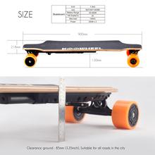 Free shipping 4 wheel skateboard electric skateboard longboard +remote control+motor+samsung battery balance scooter penny board(China (Mainland))