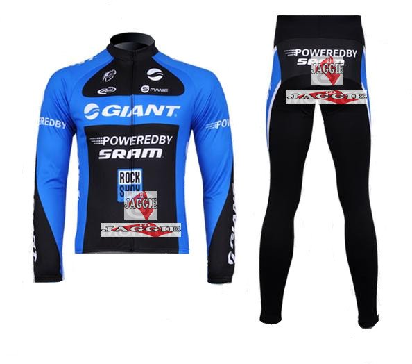 Winter clothes! 2011-2 GIANT Winter long sleeve cycling jerseys+pants bike bicycle thermal fleeced wear set+Velveteen!