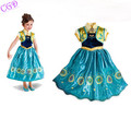 2016 New Christmas Girls Dress Anna Elsa Cosplay Dresses Kids Clothes Children s Clothing Party Snow