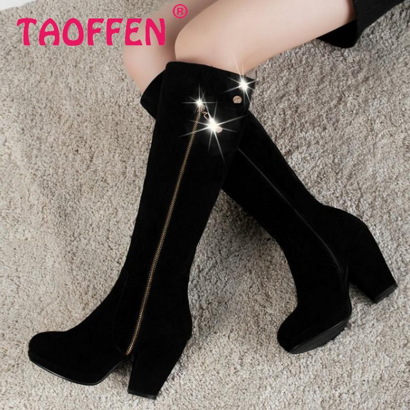 CooLcept Free shipping over knee natrual real genuine leather high heel boots women snow winter warm shoes R2400 EUR size 34-39<br><br>Aliexpress