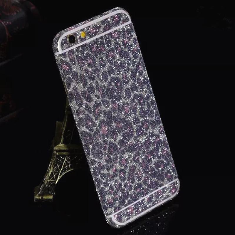 Luxury leopard glitter foil sticker body scrub color film Star flash font b mobile b font