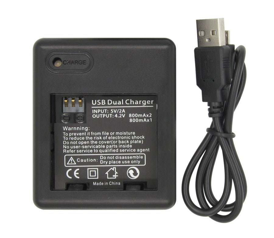 2Pcs 1010mAh xiaomi yi Batteries + Double Dual Charger Rechargeable Battery Pack for xiaomi yi Action Camera xiaoyi Accessories
