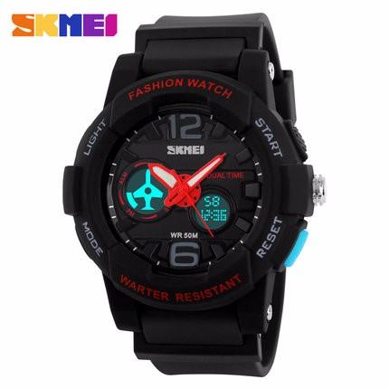 SKMEI Watches Men Sports Quartz-Watch LED Digital-Watch LED Fashion Casual Relogio Masculino 50m Waterproof Military Wristwatch
