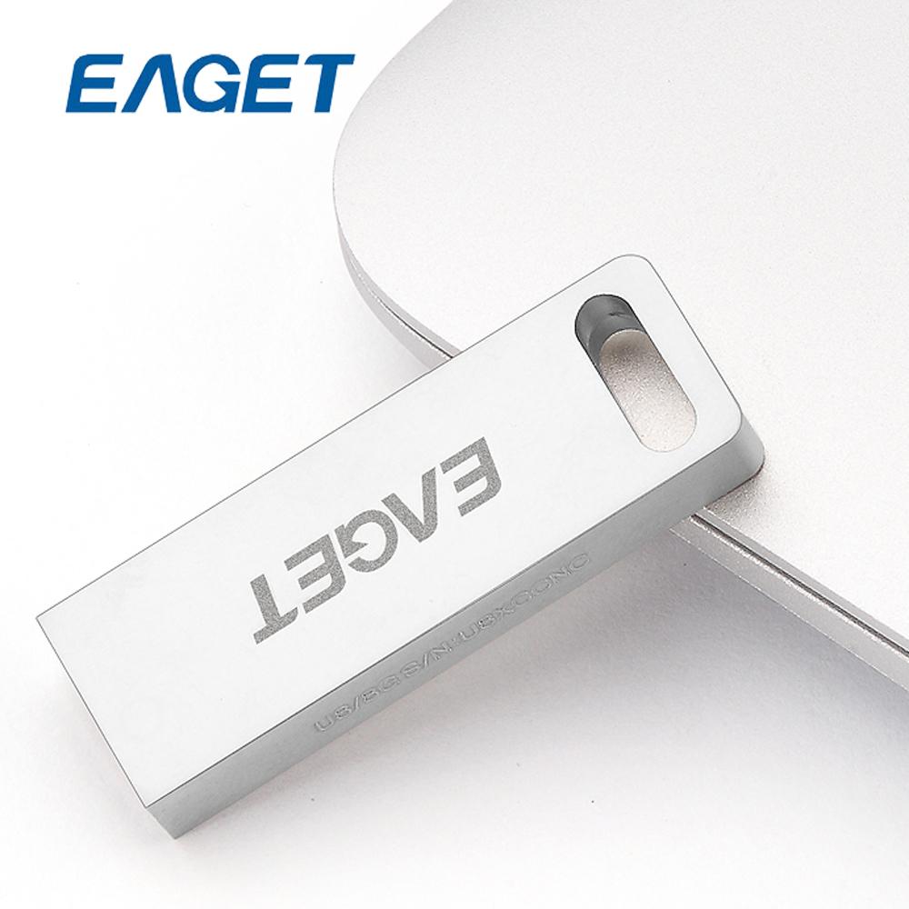 EAGET U8 USB 2.0 8G 16G 32G usb flash drives metal waterproof Gift memory stick USB2.0 pen drive Thumb Drive pendrive key ring(China (Mainland))