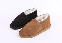 Winter male female indoor real Sheepskin middle-aged wool snow boots warm shoes slip(China (Mainland))