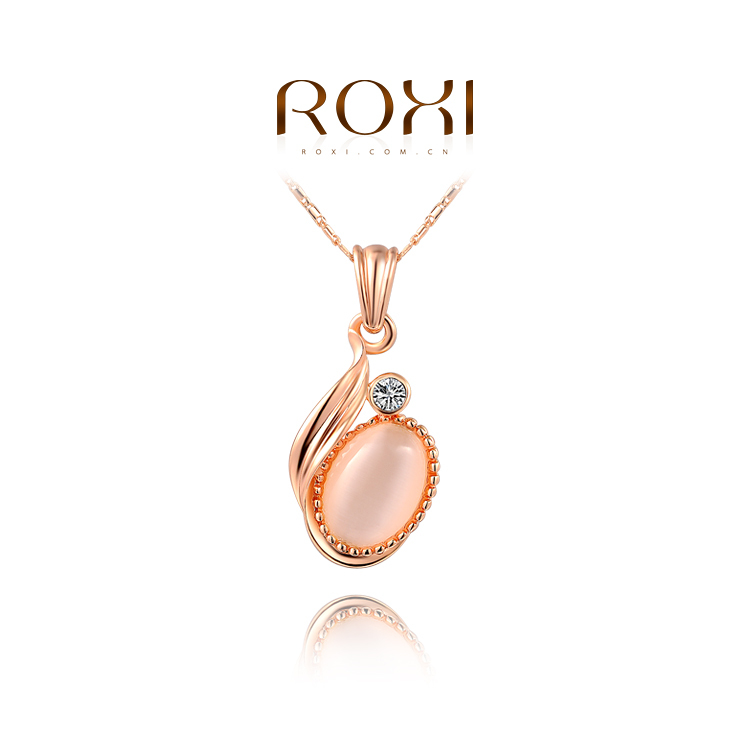 ROXI fashion necklaces women 2014 luxury opal hopes created crystal rose gold white plated (2 colors) - international trading LTD ( and retail store)