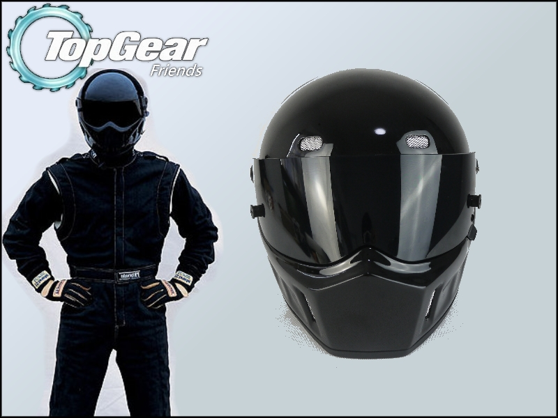 High Quality ( Bluetooth ) First Generation TopGear Stig 1 Helmet Black Colour With Black Visor Top Gear Car / Motorcycle Helmet(China (Mainland))
