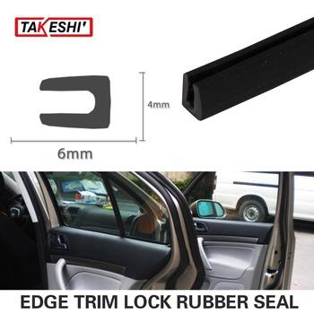 "sales promotion 40"" 100cm Car Auto Truck 6x4mm U Channel weatherstrip Waterproof dustproof Trim Edge Strip seal #52"