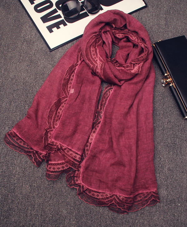Hijab scarf 2016 female autumn winter Japanese style ethnic designer long lace swing scarves birthday gifts cape shawl wrap(China (Mainland))