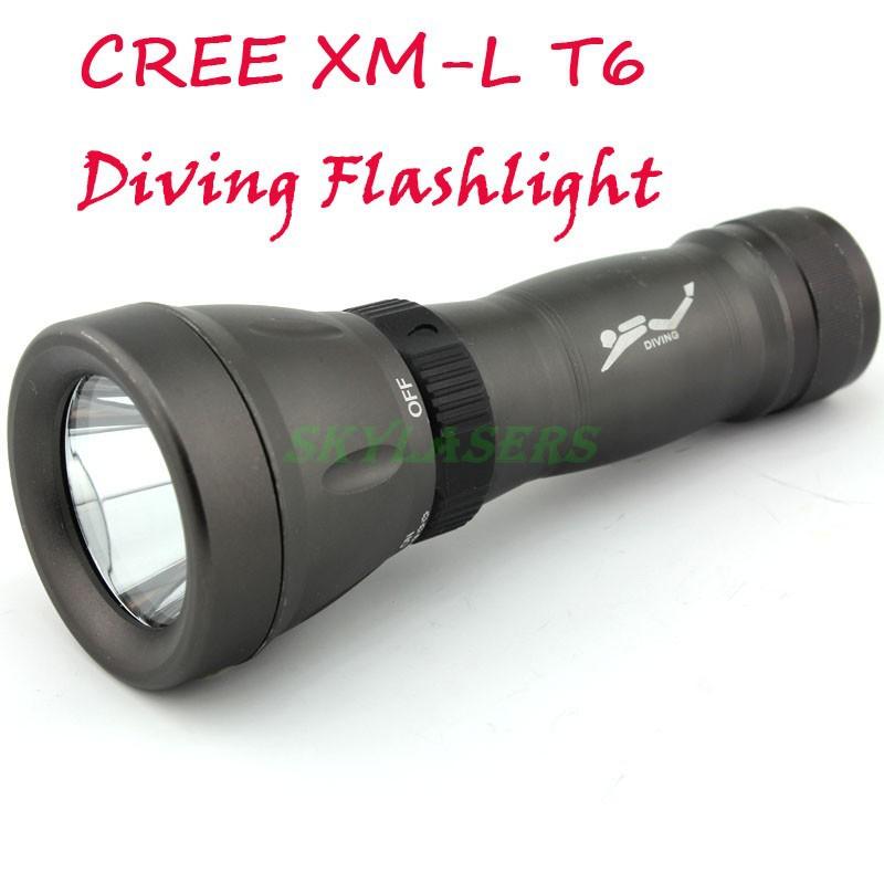 New Underwater Diving Flashlight Torch CREE XM-L T6 LED 18650 Waterproof Diving Flashlight Torch Lamp Light 1800 Lumen(China (Mainland))