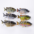 Free Shipping Multi Jointed Fishing Lures Bait Swimbait Sink Hook Tackle 3D Eyes Lifelike Jointed Sections