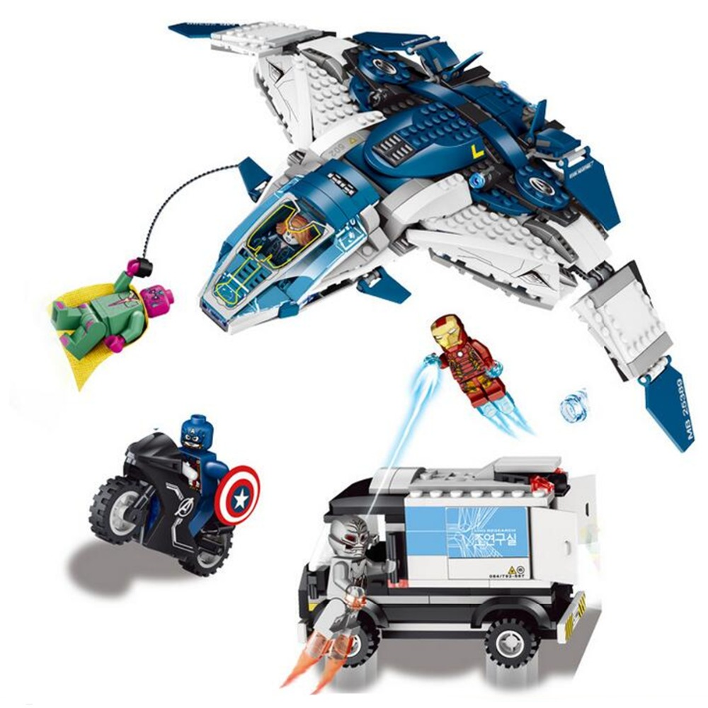 Avengers Super Heroes Building Blocks The Quinjet City Chase Lron Man Minifigure Toys Toys For Children Marvel Super Heroes(China (Mainland))