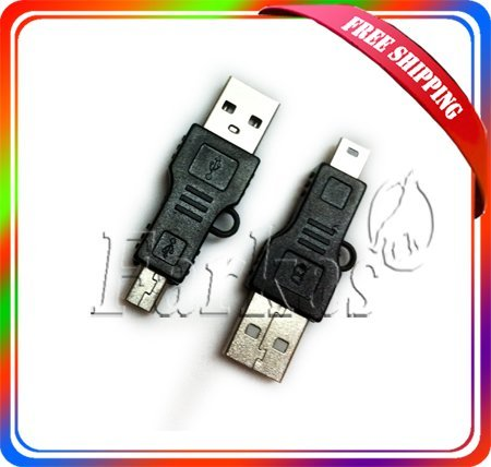 Free Shippping Black USB A to Mini B Adapter Converter 5pin USB Cable For MP3 MP4 100Pcs/Lot Wholesale