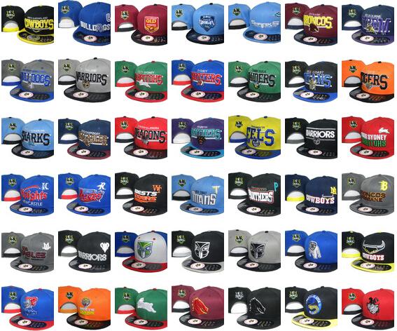 2016 03 20PCS/Lot Wholesale NRL Cap AFL Hat Baseball Caps With Logo Tags Football Helmet Outdoor Sports Hat NRL Ladder Mix Order(China (Mainland))
