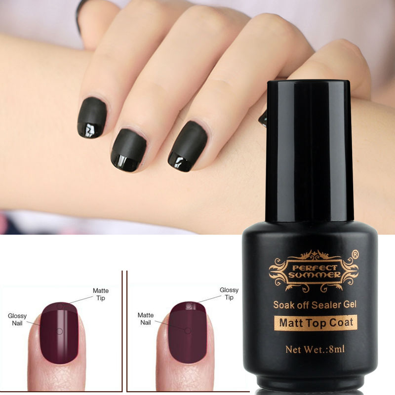 Perfect Summer Matt Matte Top Coat LED UV Soak Long lasting Gel Polish Surface Magic Nail Art - Store store