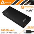 Original Aukey Original Quick Charger 2 0 10000mAh Portable External Battery 20W 5V 9V 12V Rapid