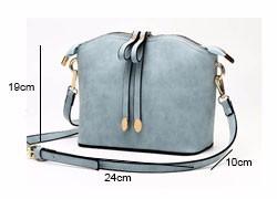 Plain Nubuck Leather Ladies Shell Bag Fashion Simple Shoulder Bag Casual PU Small Crossbody Bag Women Stylish Handbag