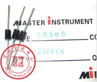 Free shipping 100PCS SR560 SB560 5A 60V Schottky diode rectifier diode