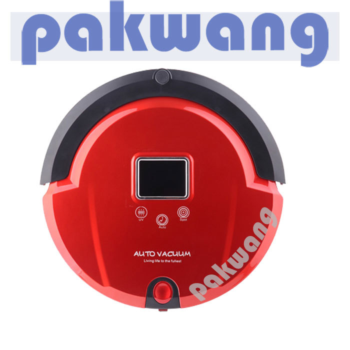 Multifunction Robot Vacuum Cleaner (Sweep,Vacuum,Mop,Sterilize),LCD Touch Screen with ,vacuum robot(China (Mainland))