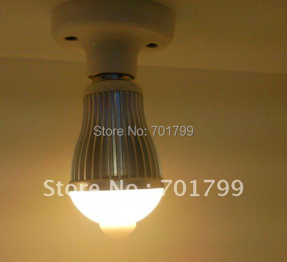 6W LED Human body induction bulb,60*125mm,12pcs 5630 smd led