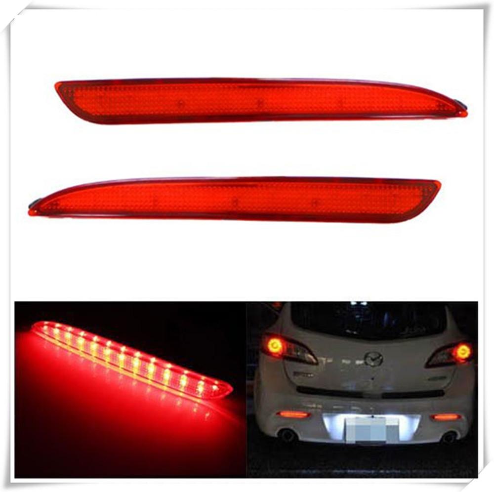 LED Bumper Reflector For Mazda3 As Brake Tail Reverse Turn Signal Backup Lights(China (Mainland))