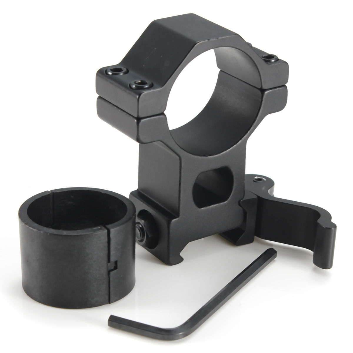 High quality Tactical High Profile 30mm Scope Rings Weaver Picatinny Rail Mount For Rifle+25mm Scope Ring Adapter+Wrench