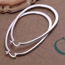 Fashion Silver Plated Big Hoop Earrings New Arrival Cute Earrings for Women 2016 Hot Sale Top Quality Party Fine Jewelry(China (Mainland))