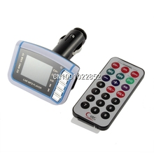 Car MP3 Player with Remove Control SD TF Card 1.44 inch LCD Wireless FM Transmitter Wholesale(China (Mainland))