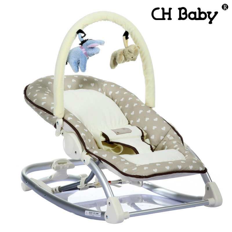 Free shipping Busy Baby Mental Baby Rocking Chair Infant Bouncers Baby Kids Recliner Vibration Swing Cradle With Music(China (Mainland))