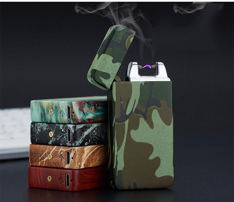 ถูก 1ชิ้นสูบบุหรี่แปลกเบาencendedorอาร์ชีพจรบางW Indproof arcบุคลิกภาพเบาอิเล็กทรอนิกส์usbบุหรี่ซิการ์เบา