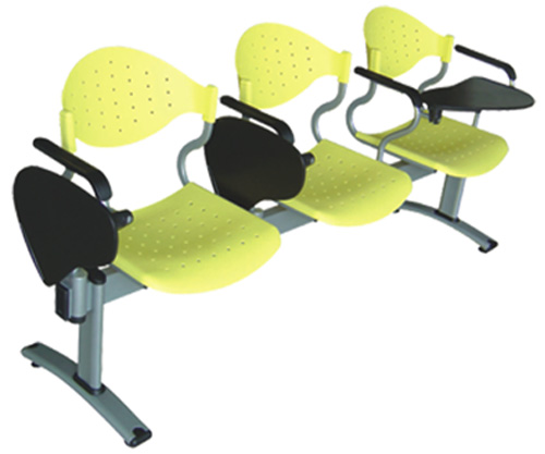 contemporary 3-beam seating office writing link chair with tablet lecture hall chair sturdy construction(China (Mainland))