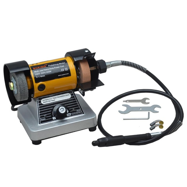 Jewelry Polishing Machine Bench Grinder With Flex Shaft And Grinding Wheels Polishing Motor For