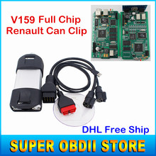 Newly V159 Renault Can Clip Full Chip OBD2 Diagnostic Tool Renault Can Clip Scanner With Multi-Languages Can Clip V159 DHL Free(China (Mainland))