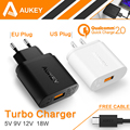 100 Original Aukey Quick Charge 2 0 18W USB Wall Charger Smart Fast Charging For iPhone