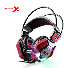 XIBERIA V6 Over-ear Gaming Headset Earphone Headband Headphone with Mic Stereo Bass Musci Breathing LED Light for LOL PC Game