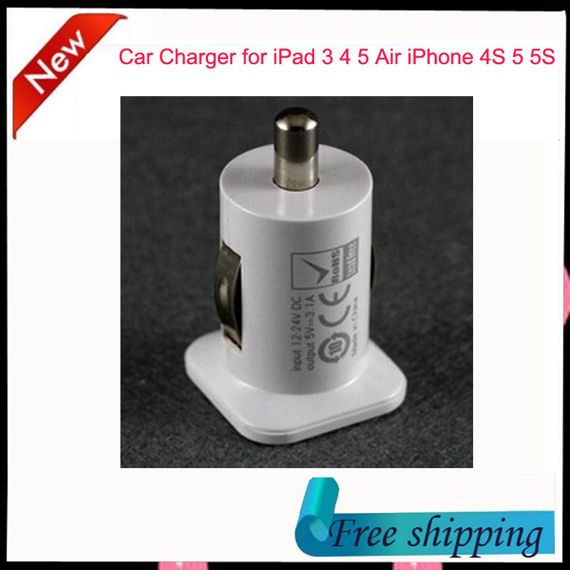 3.1A Micro Auto Universal Dual 2 Port USB Car Charger for iPhone 4S 5 5S 6 Plus iPad 4 5 Air Mini Samsung Galaxy S4 S5 Note 3 4