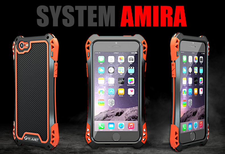 for iphone SE Powerful armor Carbon Fiber proof Splashing Water Metal mobile phone cover Case for iphone5 5s SE CASE with Glass(China (Mainland))