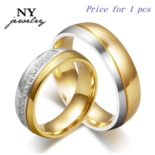 2015 new CZ couple rings for love 18k gold wedding men women ring