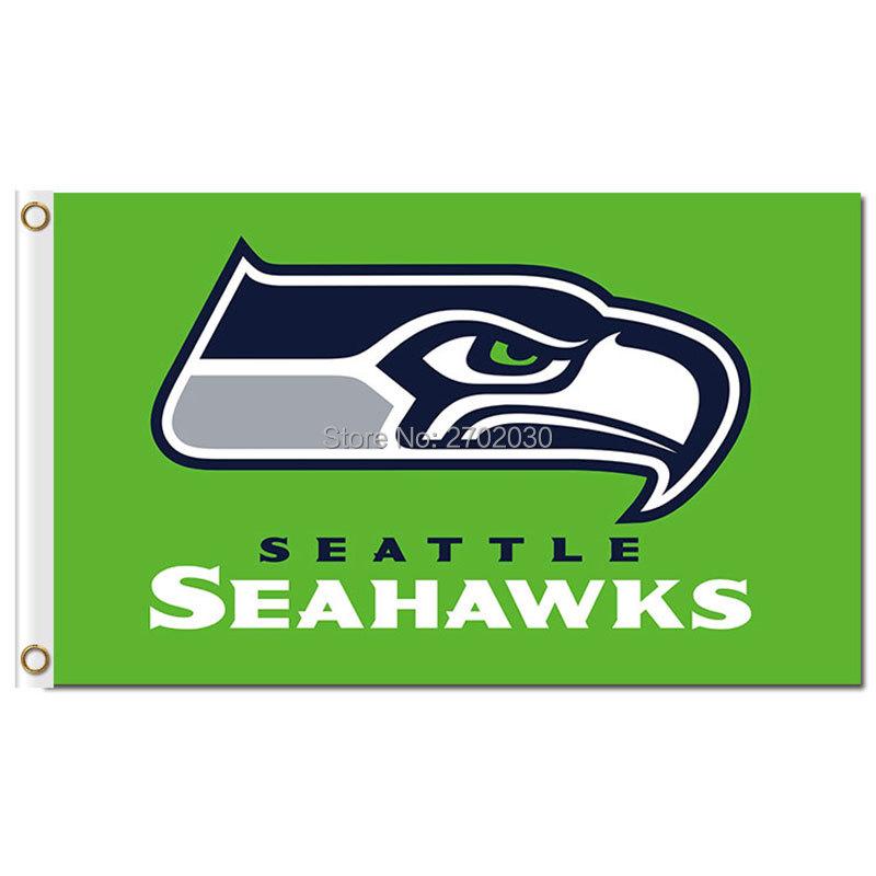 Green Seattle Flag 3ft X 5ft Banner 100D Polyester Flag Green World Series Football Premium Team Seattle Banner Flag(China (Mainland))