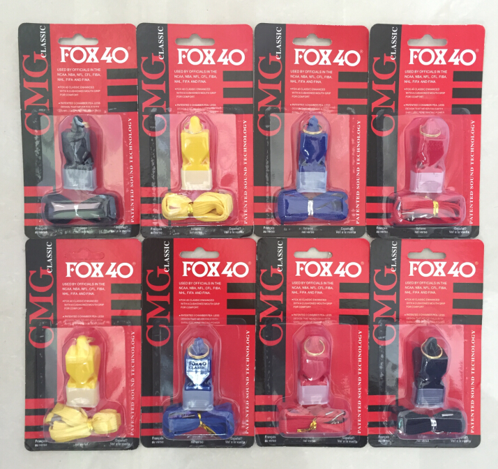 EDC fox40 Whistle Plastic FOX 40 Soccer Football Basketball Hockey Baseball Sports Classic Referee Whistle Survival Outdoor(China (Mainland))