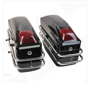 Motorcycle Hard Saddlebag Trunk Bag Luggage Tail Light Chrome Rail Bracket For Kawasaki Vulcan Classic VN 400 VN500 VN800 VN(China (Mainland))