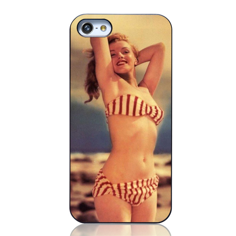 Hard plastic Mobile phone accessories Painting Lively Bikini Rihanna Marilyn Monroe Red Lips mobile phone bag For iPhone 5 5S(China (Mainland))