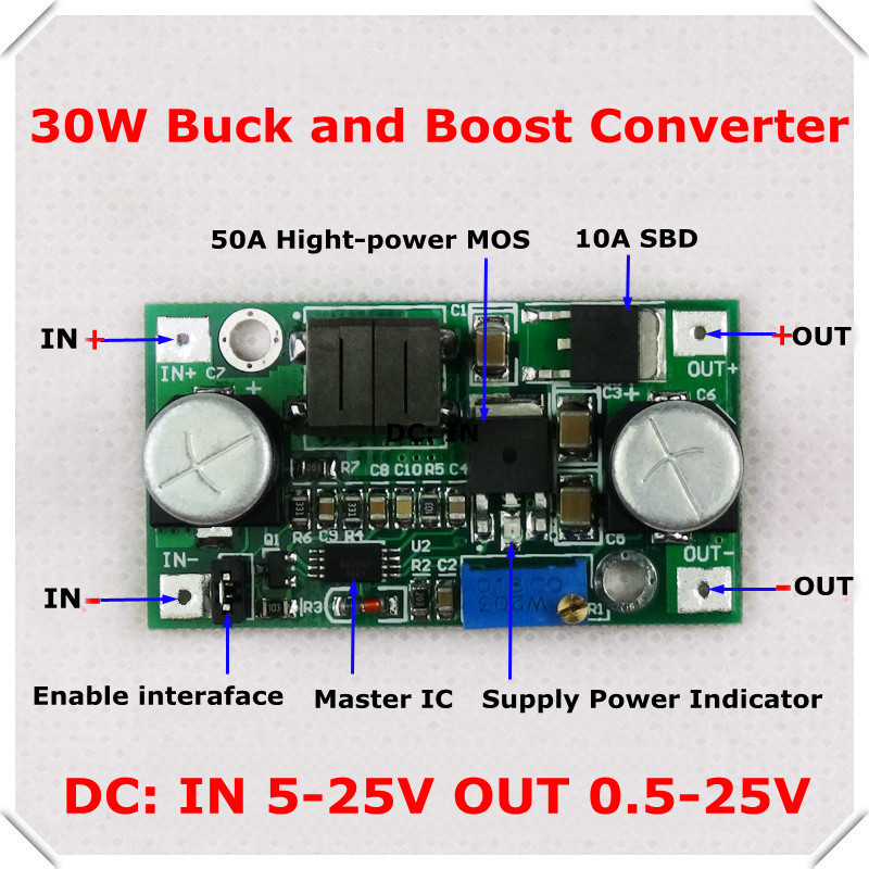 DC-DC Adjustable Step-Up step-down Power Supply Module boost buck voltage converter LM2596&LM2577 5-25V [ ] - RD official store