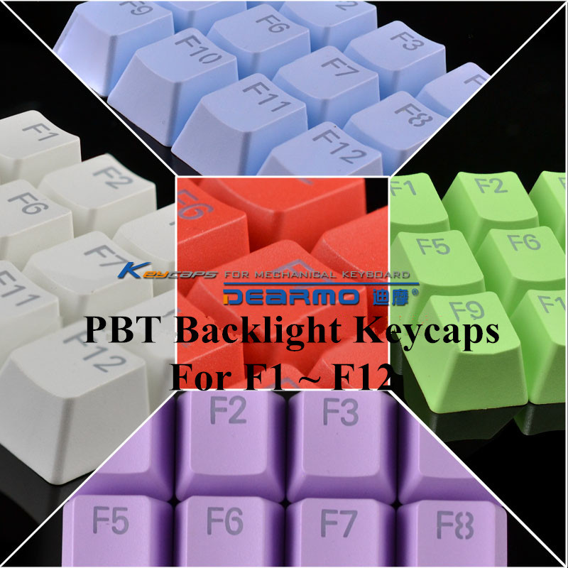 2015 Brand New PBT Backlight Keycaps F1~F12 Backlit Keys For Cherry / Kailh Switches Backlight Mechanical Keyboard Free Shipping(China (Mainland))
